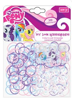 one supplied Assorted Colours My Little Pony Snap Bands