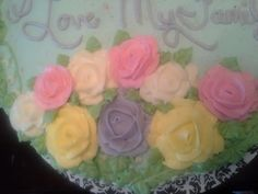 Lilly of the valley cake. With roses