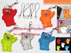 5pcs. Gấu điện thoại Di Động mặt dây chuyền, Bag pendant phụ kiện, phản quang keychain cho khả năng hiển thị an toàn. miễn phí vận chuyển