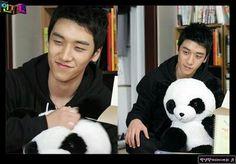Seungri with panda