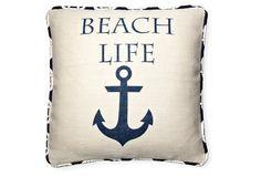 Beach Life 20x20 Pillow, Natural
