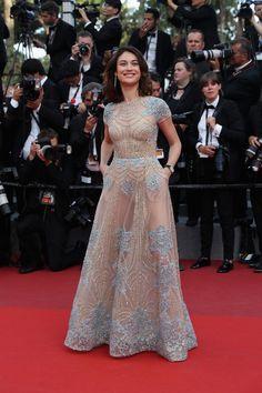 Olga Kurylenko in Elie Saab   2017 Cannes Film Festival