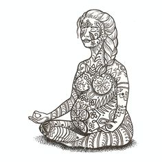 7x7 Giclee Print  Mother and Baby  Pregnancy Yoga