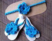 Barefoot o Sandalias de Pies descalzos, tejidas en Crochet.