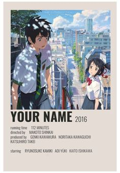Aesthetic Movies, Aesthetic Anime, Text Poster, Poster Wall, Poster Anime, Wall Prints, Poster Prints, Your Name Anime, Your Name Movie