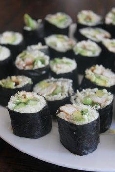 Nori Rolls with Cauliflower 'Rice'! Low Carb! Gluten Free! Grain Free! - MamaBake
