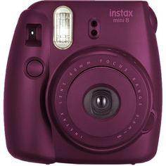 Fujifilm instax mini 8 Instant Film Camera (Plum) - Instax Camera - ideas of Instax Camera. Trending Instax Camera for sales. Polaroid Instax Mini, Poloroid Camera, Instax Mini 9, Fujifilm Instax Mini 8, Mini Camera, Best Camera, Instax Mini Ideas, Film Polaroid, Fuji Instax