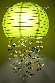 Butterfly Light Mobile - adding a bit of a personal touch to a space
