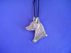 Basenji Turquoise necklace Pewter African Dog Jewelry by Cindy A. Dog Jewelry, Pewter, Turquoise Necklace, Carving, African, Pendant Necklace, Dogs, Stuff To Buy, Ebay