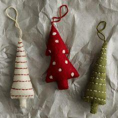 Miscellaneous - Felt Tree Ornaments   west elm - felt, tree, ornaments