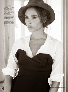 Victoria Beckham in a photo shoot for the magazine Vogue UK, August 2014
