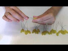Подсолнухи из бисера. Часть 1/3. Бисероплетение - YouTube