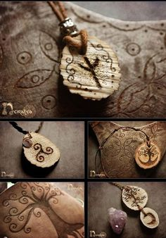 wooden *pagan* jewelry <3