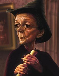 Maggie Smith as Professor McGonagall in the Harry Potter movies