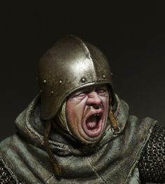 Armadura Medieval, Military Modelling, Medieval Armor, Studio, Riding Helmets, Armour, Concept Art, Miniatures, Painting