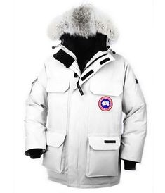 Cheap Canada Goose Expedition Parka for Men in White