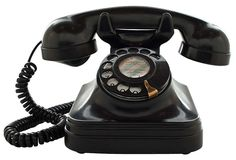 1940s T1 Black Bakelite Desk Phone | More vintage lusciousness here: http://mylusciouslife.com/photo-galleries/vintage-style-lovely-nods-to-the-past/