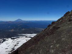Half way through the summit of the Villarica volcano