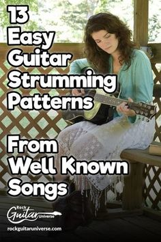 Looking to learn new strumming patterns when you play your favorite songs, whatever it is on acoustic or electric guitar? Well, I got you covered check these 13 easy guitar strumming patterns from well-known songs. charts and tabs included. Guitar Chords And Lyrics, Music Theory Guitar, Easy Guitar Songs, Guitar Chords For Songs, Music Guitar, Playing Guitar, Guitar Tips, Ukulele Chords, Guitar Solo