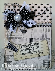 Everything Is Going To Be Ok card by Karen Letchworth