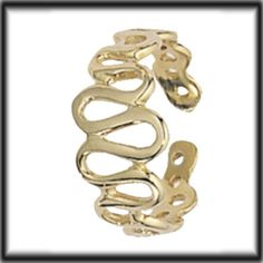 9ct Solid Gold Toe Ring Wavy Pattern H007 jewellery company Made in UK #Jewellerycompany