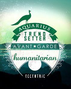 Aquarius ~ Trend setter, avante garde, humanitarian