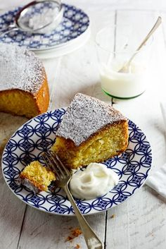 Apple & Polenta Cake. #baking #recipe #vegetarian