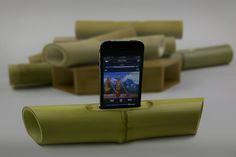 iPhone bamboo speaker