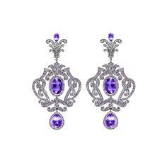 Axenoff Earrings with Amethyst