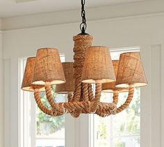 Rope Chandelier | Pottery Barn