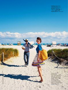visual optimism; fashion editorials, shows, campaigns & more!: sun. sea, glamour: rudi ovchinnikova and wes by pamela hanson for uk glamour may 2013