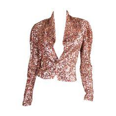 1940's Rose Gold Sequined Jacket