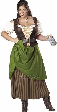 Fantasia de alemã - vestido longo
