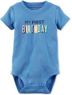 c9bf66531c50 Carter's My First Birthday Bodysuit, Baby Boys (0-24 months) Happy Birthday