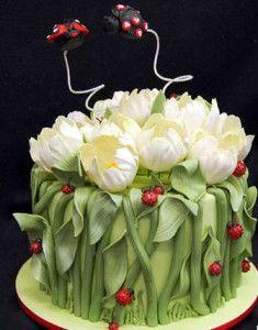 торт с тюльпанами рецепт фото
