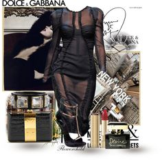 """Dolce & Gabbana - Sheer Trend"" by flowerchild805 ❤ liked on Polyvore"