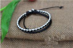 Personality  bracelet jewelry fashion bracelet with leather retro cheap bracelet   Tophandmade - Jewelry on ArtFire
