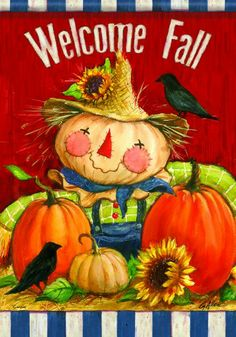 """Welcome Fall"" Scarecrow, Pumpkins Double-Sided 28""x40"" Autumn House Flag Flag Trends,http://www.amazon.com/dp/B00DRK4Z8S/ref=cm_sw_r_pi_dp_74Vwtb0AT2NWVAHZ"