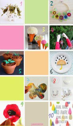dieci idee per festeggiare la primavera   10 spring crafts for kids