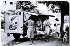 Migros gezici satış kamyonu (moving retail truck named Migros) - 1960 lar Old Pictures, Old Photos, Istanbul City, Shopping Street, History Photos, Ottoman Empire, Historical Pictures, Old City, Best Cities