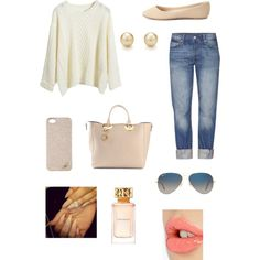A fashion look from December 2014 featuring Levi's jeans, Charlotte Russe flats and Sophie Hulme tote bags. Browse and shop related looks.