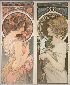 1899 Primrose and Feather © Alphonse Mucha Estate-Artists Rights Society (ARS), New York-ADAGP, Paris