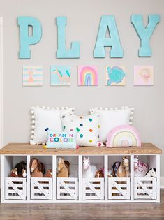 HGTV featured designer and HomeGoods Style Expert, Jenny Reimold, details her playroom makeover including this horse and toy storage unit. Horse Themed Bedrooms, Girls Horse Bedrooms, Horse Bedroom Decor, Cowgirl Bedroom, Kid Bedrooms, Bedroom Ideas, Toy Storage Units, Toy Rooms, Kids Rooms