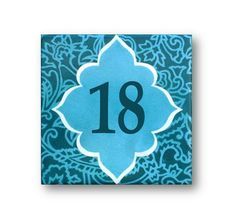 Address plaques house number plaque house by Paintingontiles