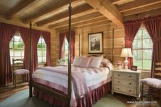 Clayton Log Cabin was created to evoke the feel and look of historic log cabins created by early settlers. See gallery & plans. Read about it in a magazine. Log Cabin Bedrooms, Log Cabin Homes, Log Cabins, Rustic Bedrooms, Mountain Cabins, Loft Bedrooms, Bed Rooms, Mountain View, Log Cabin Furniture