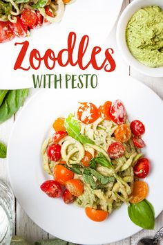 This Zoodles with Pesto dish is raw, vegan and so delicious.