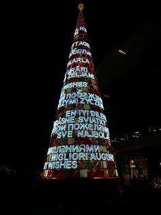 Albero di Natale Milano piazza Gae Aulenti - Italy