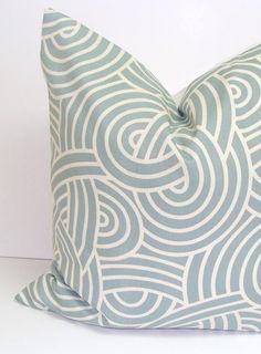 GRAY BLUE PILLOW.16x16 inch.Decorator Pillow