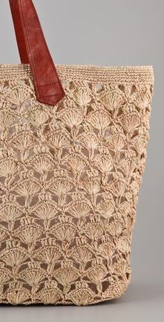 """Would love to crochet a beach tote with this pattern """"Mar Y Sol Valencia Oversized Tote"""", """"over sized tote crochet"""", """"crocheted tote - cute, but prac"""