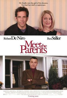 Official theatrical movie poster ( of for Meet the Parents Directed by Jay Roach. Starring Ben Stiller, Robert De Niro, Teri Polo, Blythe Danner Funny Movies, Comedy Movies, Good Movies, Funniest Movies, Famous Movies, Teri Polo, See Movie, Movie Tv, Movies Showing